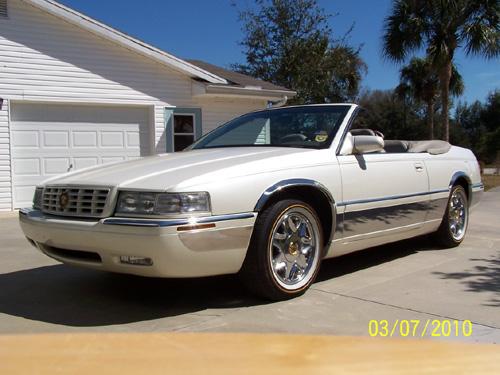 1996 Cadillac Eldorado Convertible With The Top Down